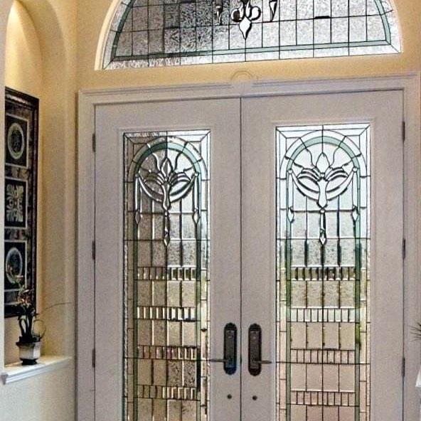 turkuaz vitray kapı